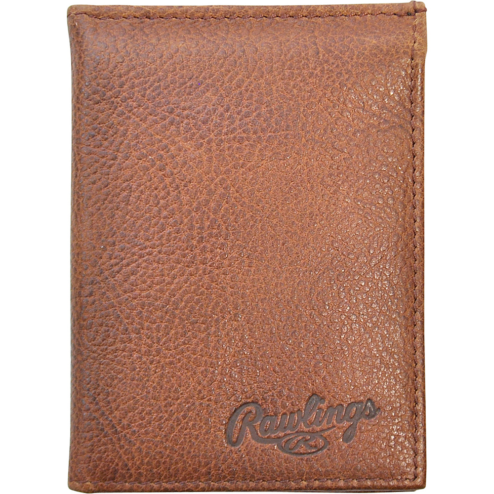 Rawlings Triple Play L Fold Wallet Cognac Rawlings Men s Wallets