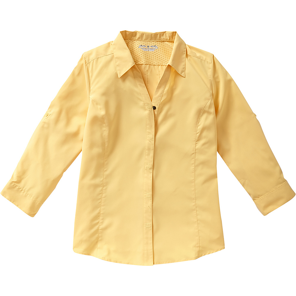 Royal Robbins Womens Expedition Stretch 3/4 Sleeve XL - Butter - Royal Robbins Womens Apparel - Apparel & Footwear, Women's Apparel