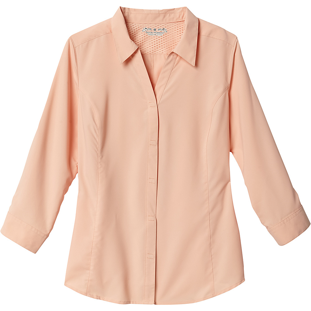 Royal Robbins Womens Expedition Stretch 3/4 Sleeve 2XL - Light Cantaloupe - Royal Robbins Womens Apparel - Apparel & Footwear, Women's Apparel