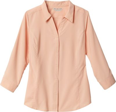 Royal Robbins Womens Expedition Stretch 3/4 Sleeve 3XL - Light Cantaloupe - Royal Robbins Women's Apparel
