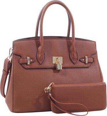 Epic Chic Mara Satchel With Matching Wallet Tan - Epic Chic Manmade Handbags