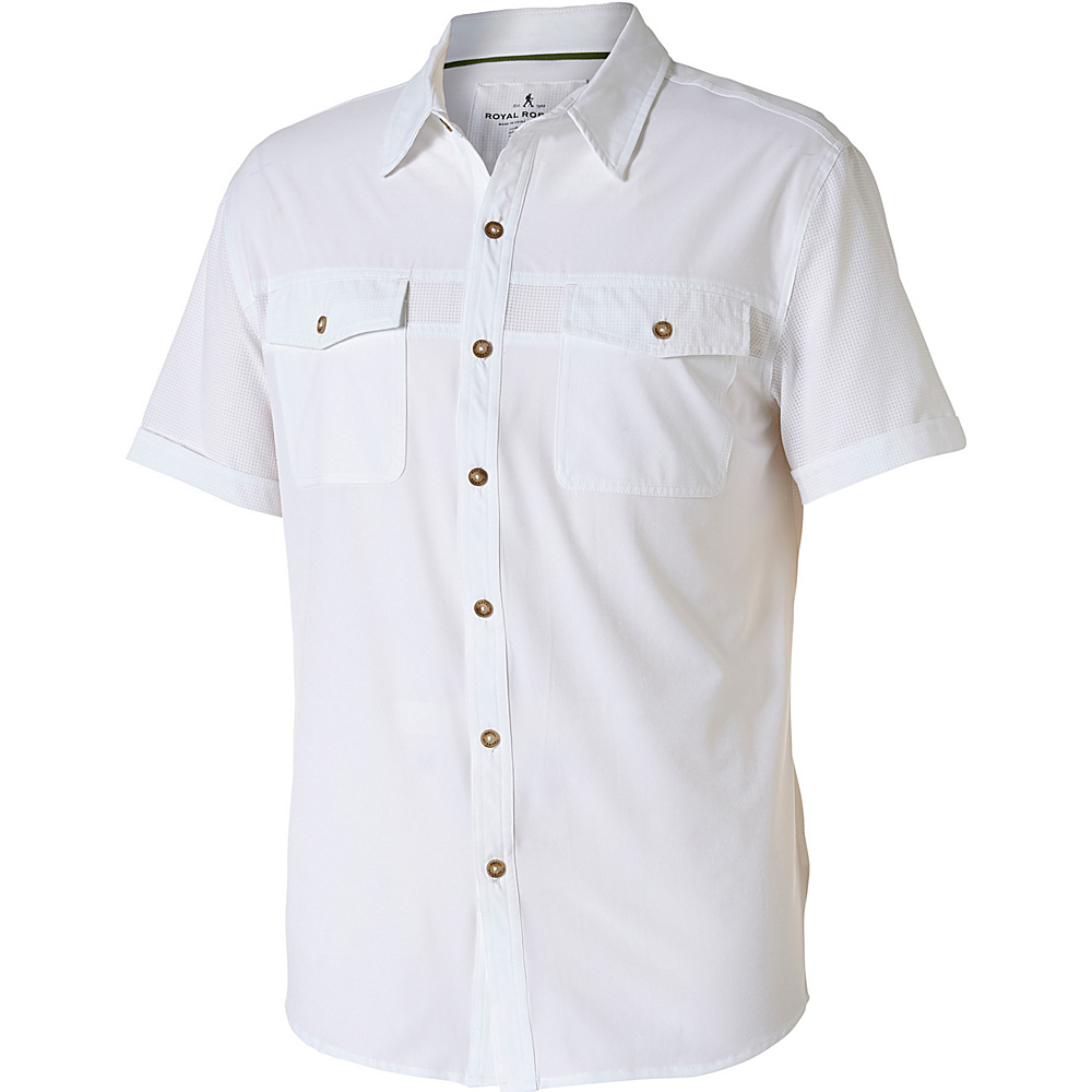 Royal Robbins Diablo Short Sleeve M - White - Royal Robbins Mens Apparel - Apparel & Footwear, Men's Apparel