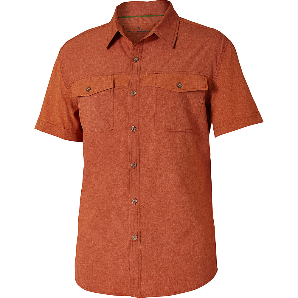 Royal Robbins Diablo Short Sleeve S - Cordwood - Royal Robbins Mens Apparel - Apparel & Footwear, Men's Apparel