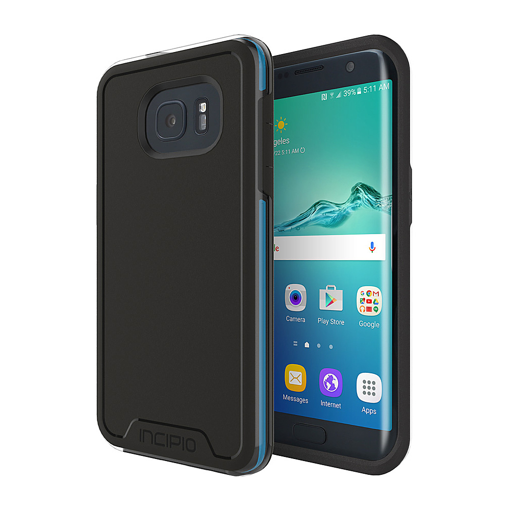Incipio Performance Series Level 4 for Samsung Galaxy S7 Edge Black/Cyan - Incipio Electronic Cases - Technology, Electronic Cases