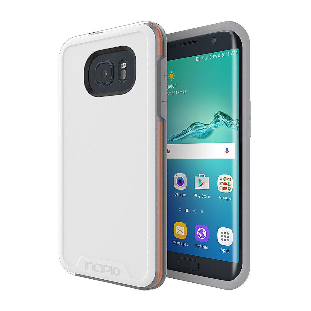Incipio Performance Series Level 4 for Samsung Galaxy S7 Edge White/Orange - Incipio Electronic Cases - Technology, Electronic Cases
