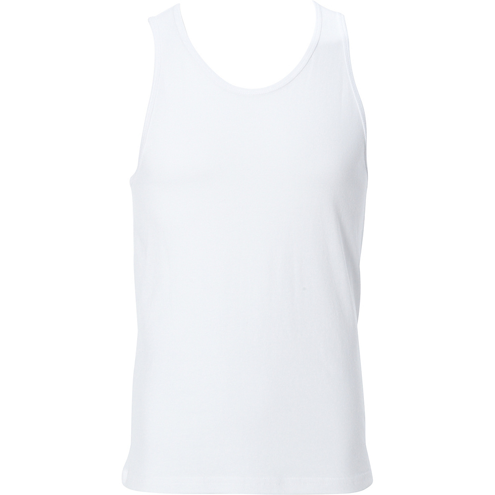 Simplex Apparel Premium Mens Tank M - White - Simplex Apparel Mens Apparel - Apparel & Footwear, Men's Apparel