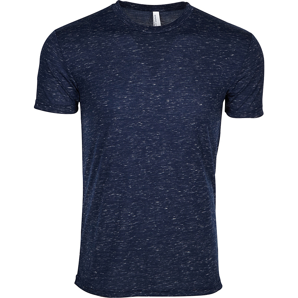Simplex Apparel Caviar Mens Crew Tee L - Navy - Simplex Apparel Mens Apparel - Apparel & Footwear, Men's Apparel