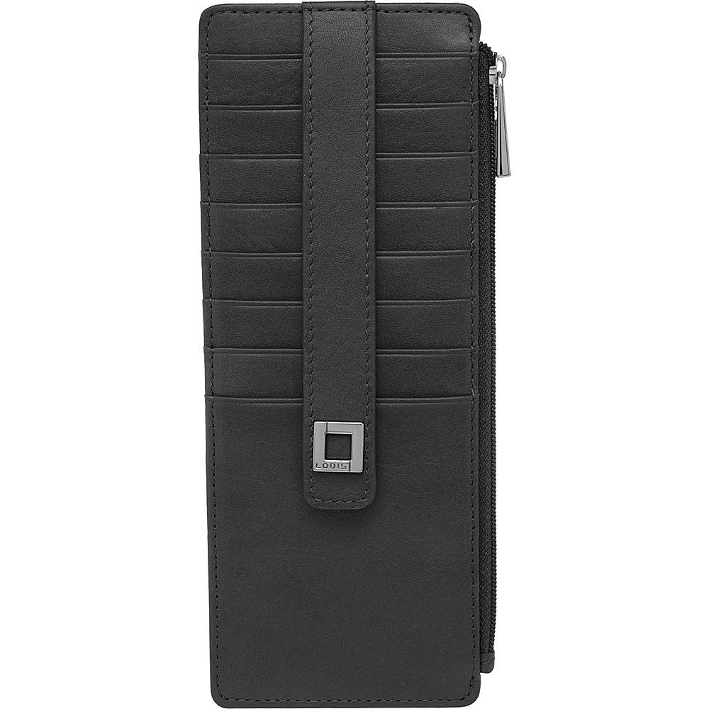 Lodis Artemis RFID Protection Credit Card Case With Zipper Black - Lodis Womens Wallets - Women's SLG, Women's Wallets