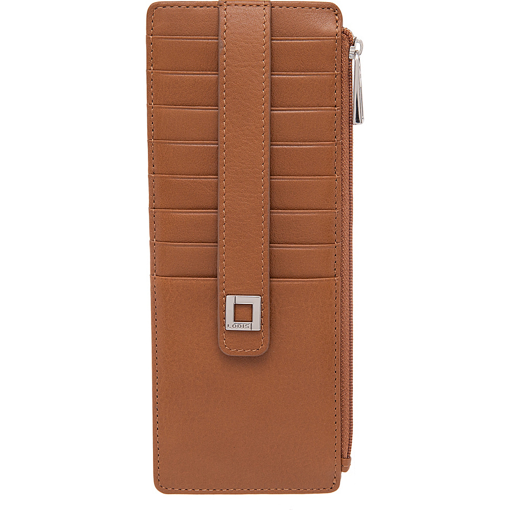 Lodis Artemis RFID Protection Credit Card Case With Zipper Cognac - Lodis Womens Wallets - Women's SLG, Women's Wallets