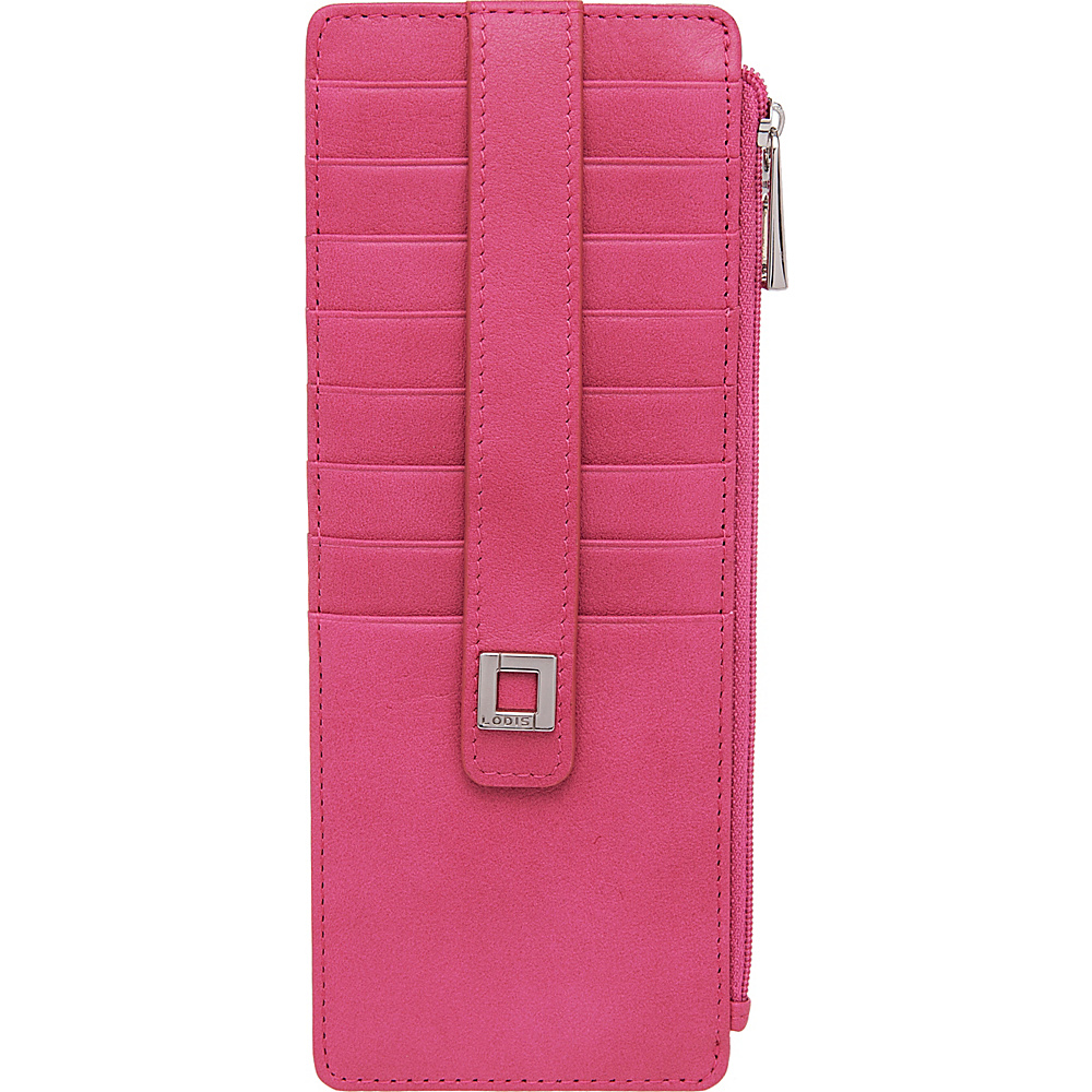 Lodis Artemis RFID Protection Credit Card Case With Zipper Fuchsia - Lodis Womens Wallets - Women's SLG, Women's Wallets