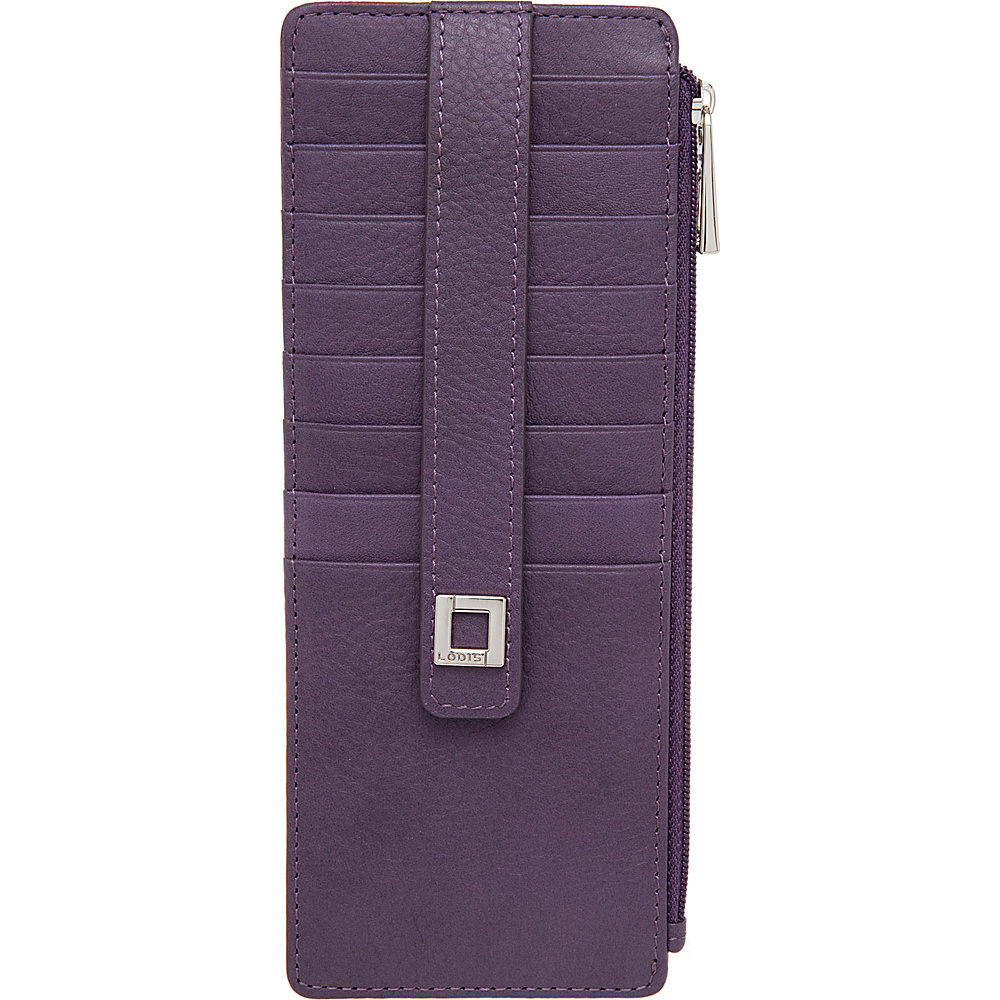 Lodis Artemis RFID Protection Credit Card Case With Zipper Purple - Lodis Womens Wallets - Women's SLG, Women's Wallets