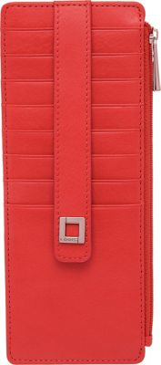 Lodis Artemis RFID Protection Credit Card Case With Zipper Red - Lodis Women's Wallets