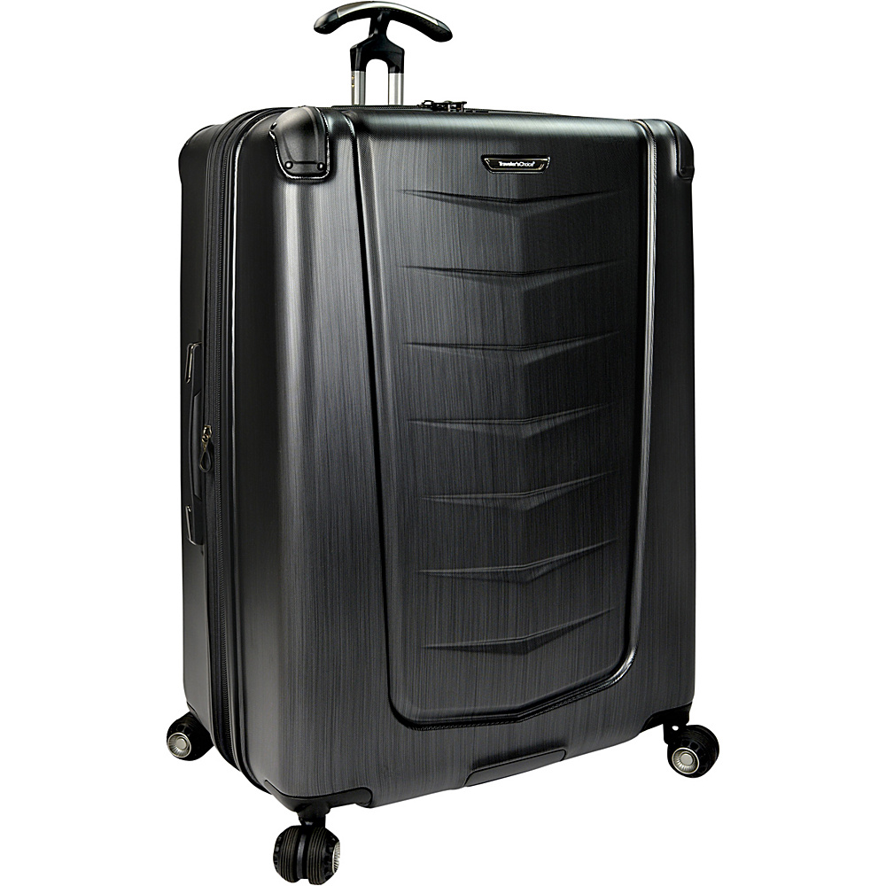 Traveler s Choice Silverwood 30 Polycarbonate Hardside Spinner Brushed Metal Traveler s Choice Hardside Checked