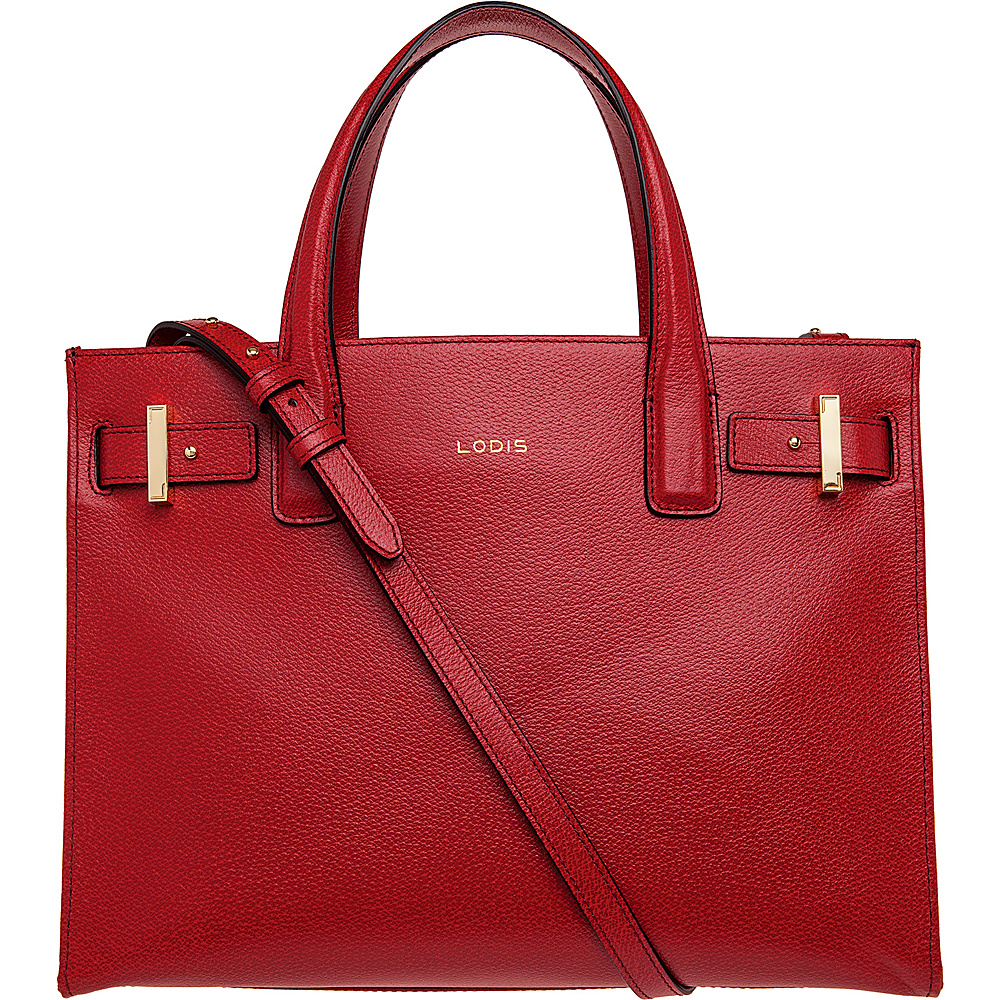 Lodis Stephanie Under Lock & Key Tara Satchel Red - Lodis Leather Handbags - Handbags, Leather Handbags