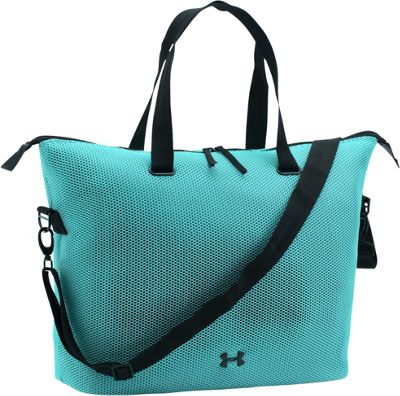 Under Armour On the Run Tote Blue Infinity/Black/Black - Under Armour Gym Duffels