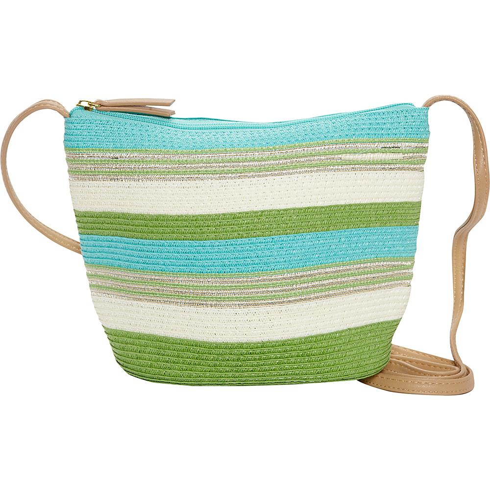 Sun N Sand Tourmaline Crossbody Green - Sun N Sand Fabric Handbags - Handbags, Fabric Handbags