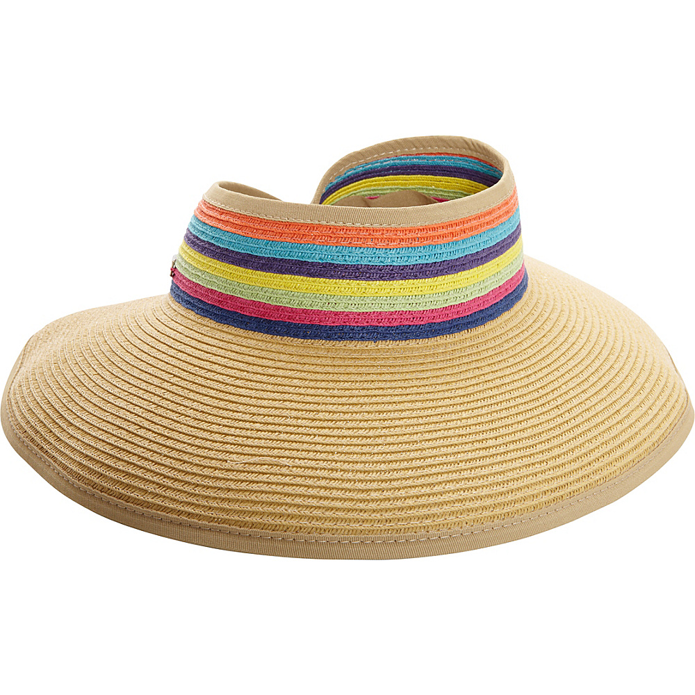 Sun N Sand Roll Up Rainbow Visor One Size - Natural - Sun N Sand Hats/Gloves/Scarves - Fashion Accessories, Hats/Gloves/Scarves