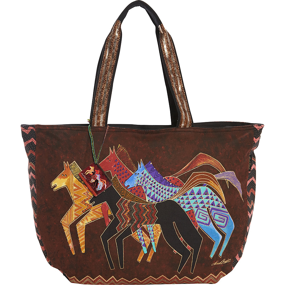 Laurel Burch Native Horses Tote Native Horses - Laurel Burch Fabric Handbags