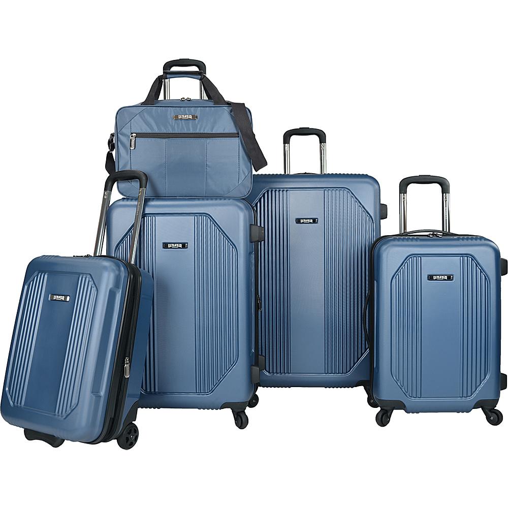 U.S. Traveler Bloomington 5-Piece Spinner Luggage Set Blue - U.S. Traveler Luggage Sets