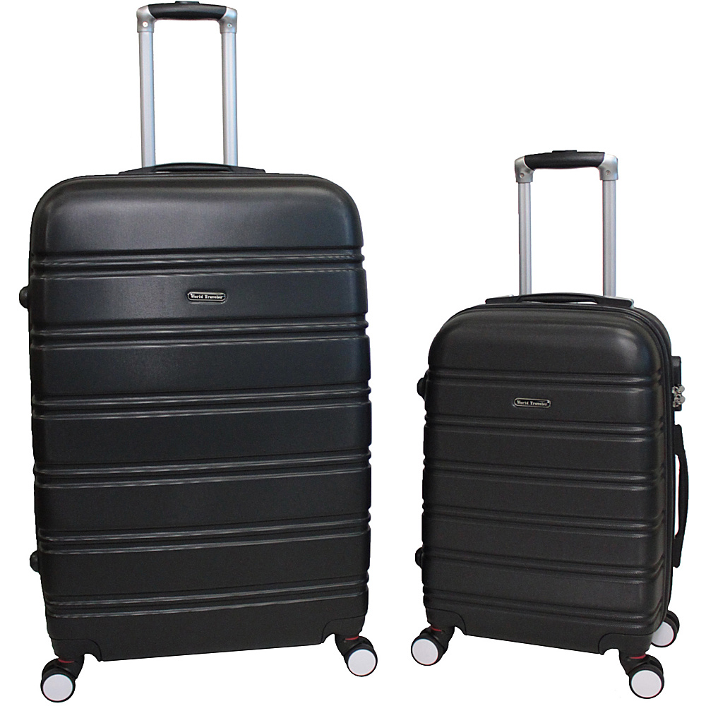 World Traveler Bristol 2-Piece Hardside Spinner Luggage Set Black - World Traveler Luggage Sets - Luggage, Luggage Sets