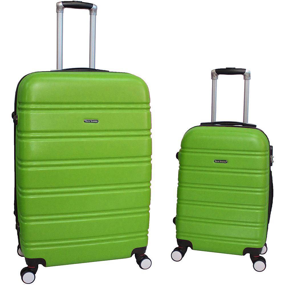 World Traveler Bristol 2-Piece Hardside Spinner Luggage Set Lime - World Traveler Luggage Sets - Luggage, Luggage Sets