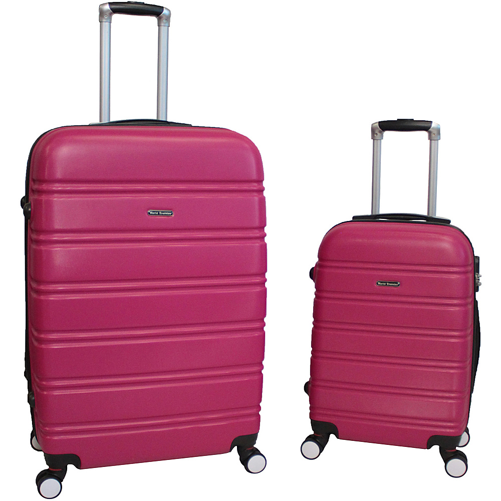 World Traveler Bristol 2-Piece Hardside Spinner Luggage Set Magenta - World Traveler Luggage Sets - Luggage, Luggage Sets