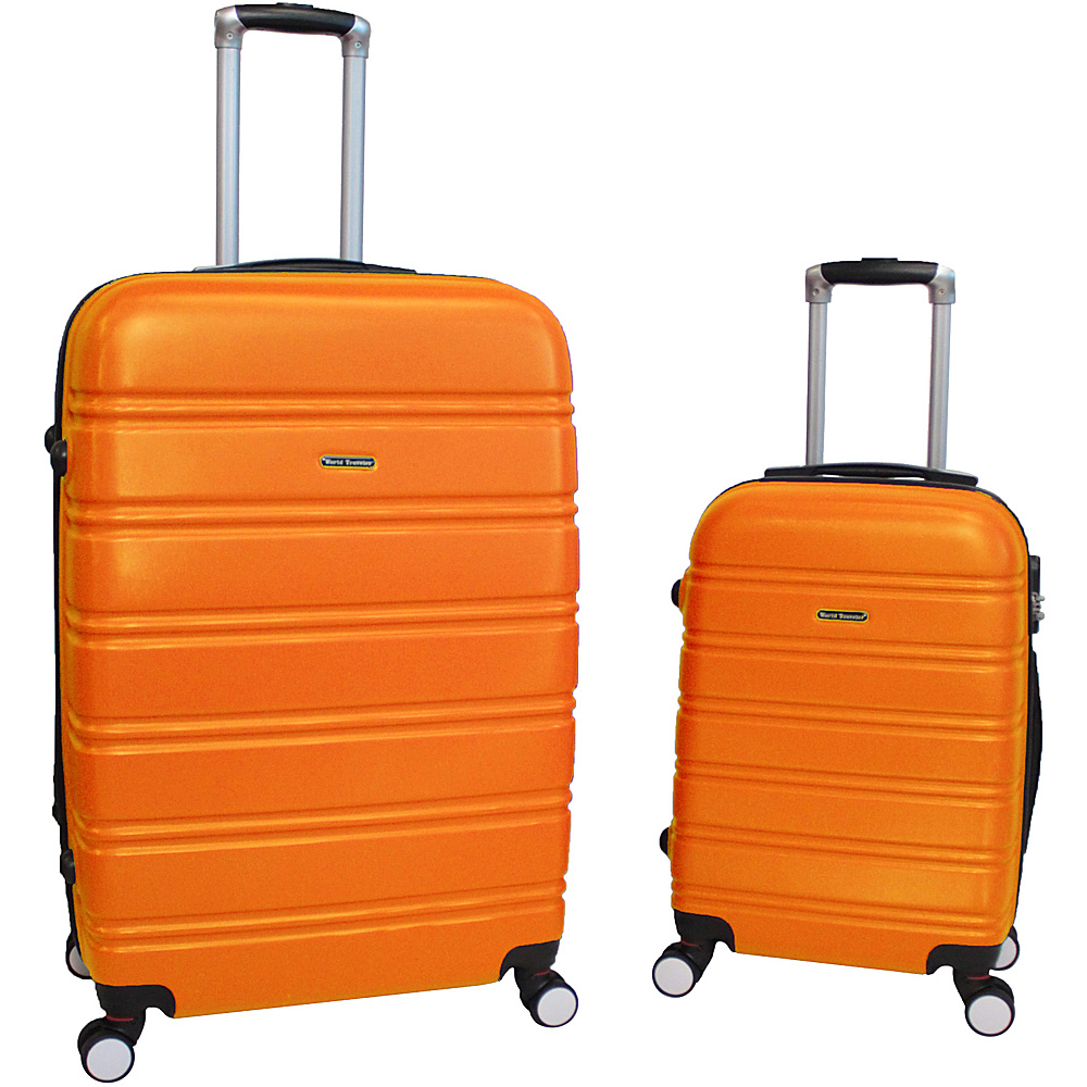 World Traveler Bristol 2-Piece Hardside Spinner Luggage Set Orange - World Traveler Luggage Sets - Luggage, Luggage Sets