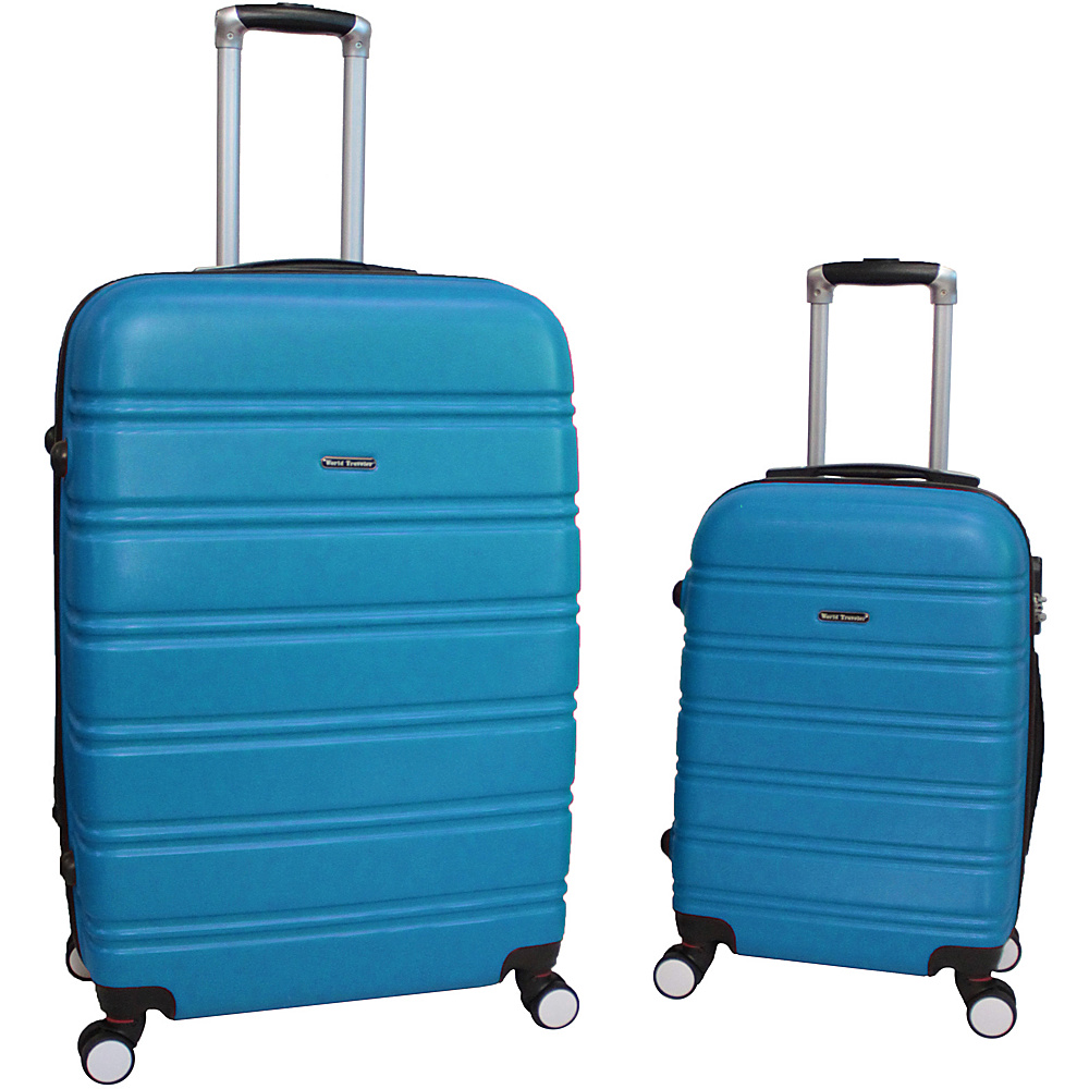 World Traveler Bristol 2-Piece Hardside Spinner Luggage Set Turquoise - World Traveler Luggage Sets - Luggage, Luggage Sets