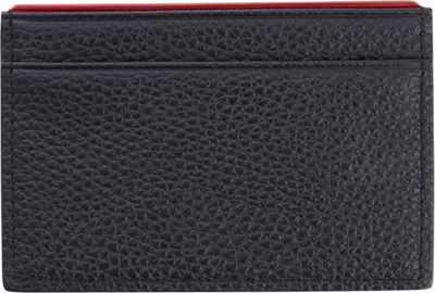Royce Leather Luxury Genuine Leather Credit Card Wallet with RFID Blocking Technology for Identity Protection Black with Red - Royce Leather Men's Wallets