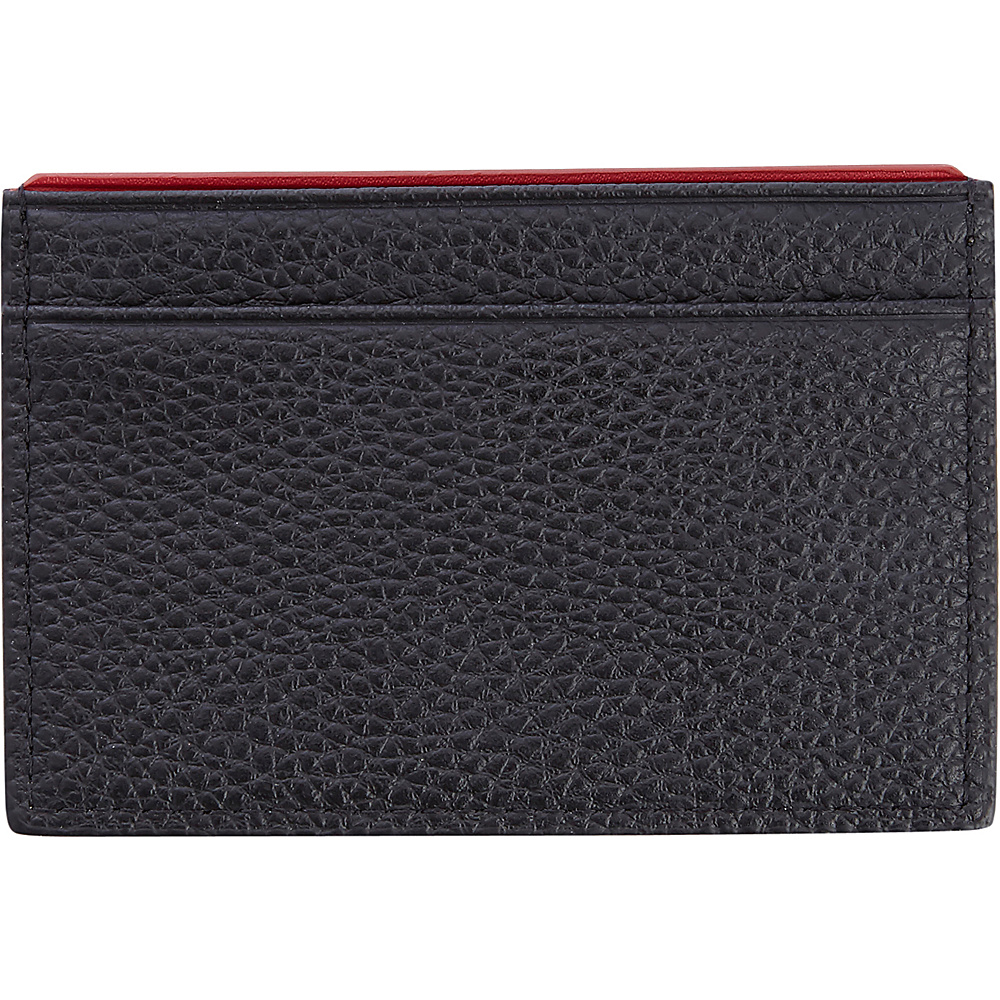 Royce Leather Luxury Genuine Leather Credit Card Wallet with RFID Blocking Technology for Identity Protection Black with Red - Royce Leather Mens Wallets - Work Bags & Briefcases, Men's Wallets
