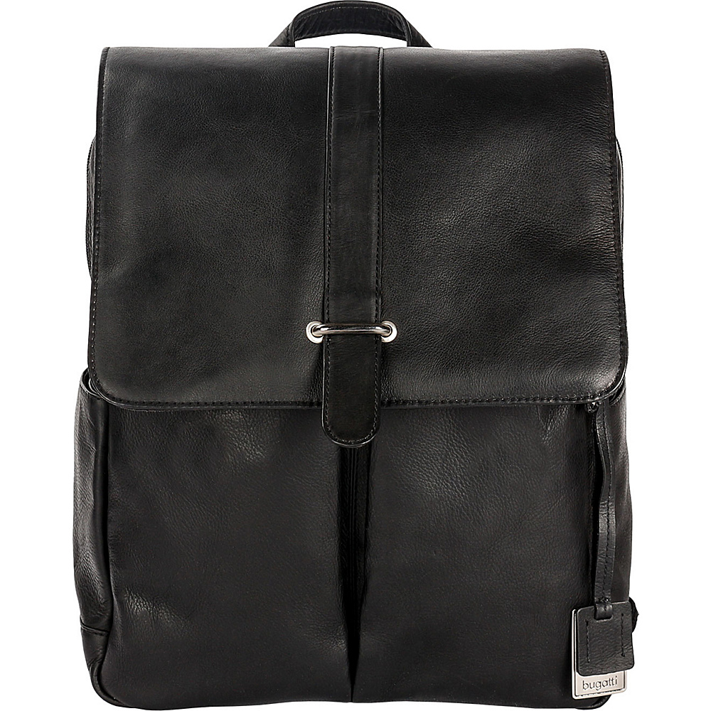 Bugatti Bello Leather Backpack Black Bugatti Business Laptop Backpacks