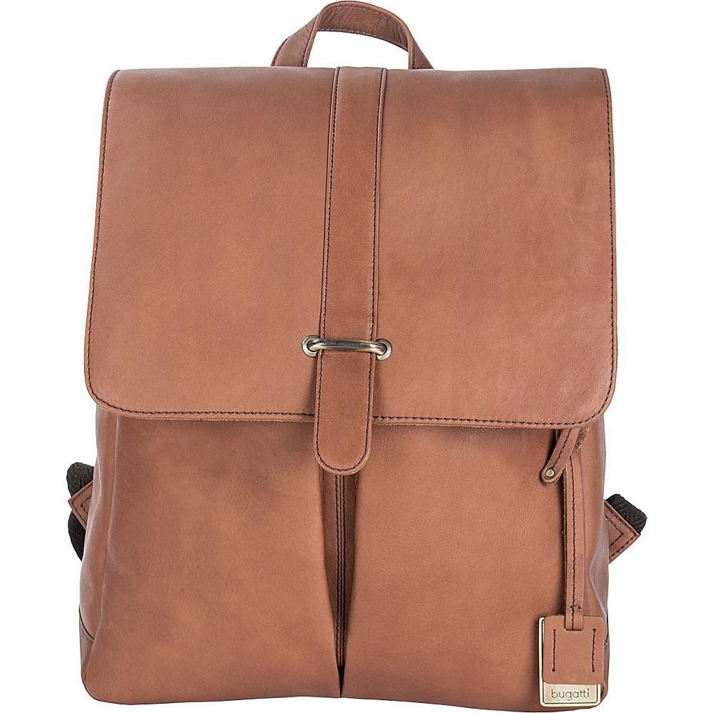 Bugatti Bello Leather Backpack Cognac Bugatti Business Laptop Backpacks