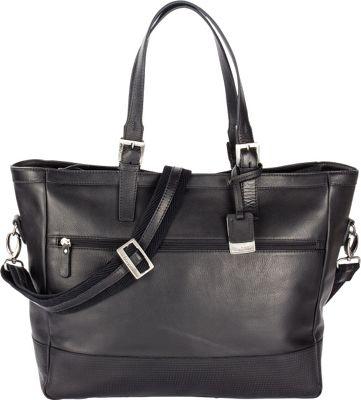 Bugatti Soledad Leather Ladies Bag Black - Bugatti Leather Handbags