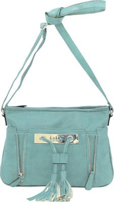 Nicole Miller New York Nicole Miller New York Full Time East/West Crossbody Vintage Teal - Nicole Miller New York Leather Handbags