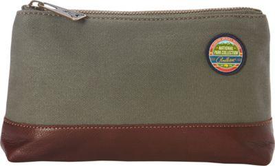 Pendleton Park Pouch Olive - Pendleton Fabric Handbags