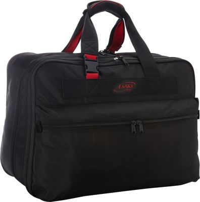 A. Saks A. Saks 21 inch Double Expandable Soft Carry-On Black/Red - A. Saks Travel Duffels