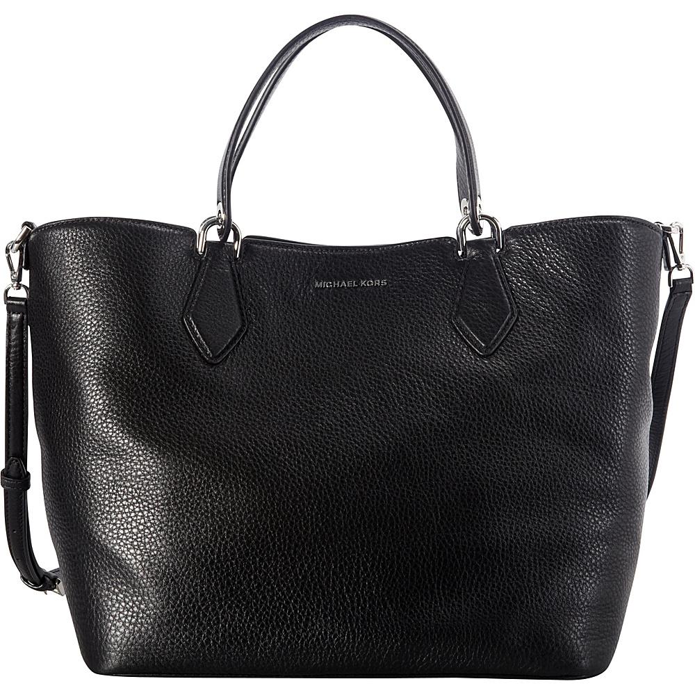 MICHAEL Michael Kors Anabelle Large Grab Bag Black - MICHAEL Michael Kors Designer Handbags