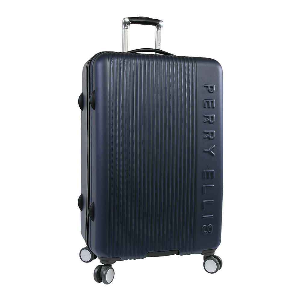 "Perry Ellis Forte Hardside 29"" Spinner Luggage Navy - Perry Ellis Hardside Checked"