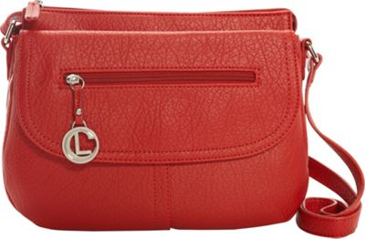 Aurielle-Carryland Saddle Up Flap Crossbody Red - Aurielle-Carryland Manmade Handbags