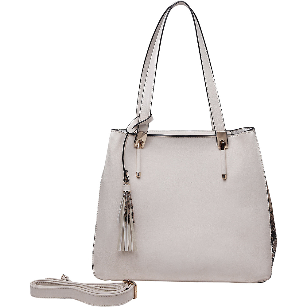 MKF Collection Abagail Shoulder Tote with Removable Organizer Pouch Beige MKF Collection Manmade Handbags