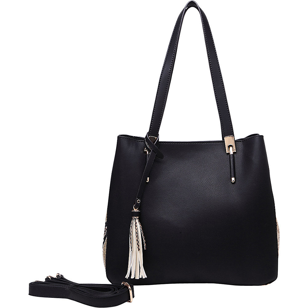 MKF Collection Abagail Shoulder Tote with Removable Organizer Pouch Black MKF Collection Manmade Handbags