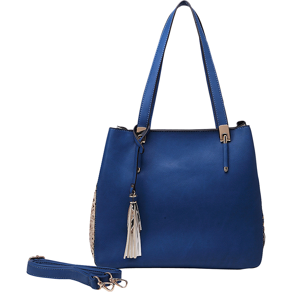 MKF Collection Abagail Shoulder Tote with Removable Organizer Pouch Blue MKF Collection Manmade Handbags