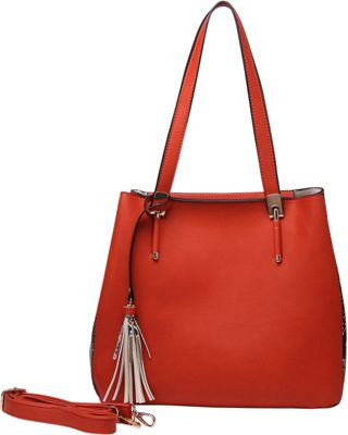 MKF Collection by Mia K. Farrow Abagail Shoulder Tote with Removable Organizer Pouch Orange - MKF Collection by Mia K. Farrow Manmade Handbags