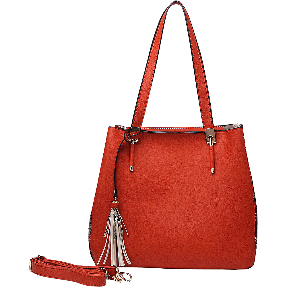MKF Collection Abagail Shoulder Tote with Removable Organizer Pouch Orange MKF Collection Manmade Handbags