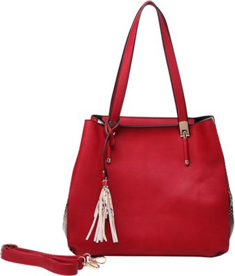 MKF Collection by Mia K. Farrow Abagail Shoulder Tote with Removable Organizer Pouch Red - MKF Collection by Mia K. Farrow Manmade Handbags