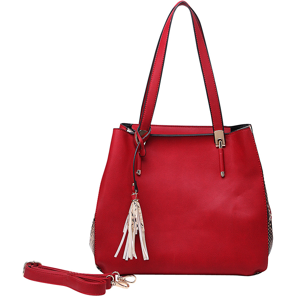 MKF Collection Abagail Shoulder Tote with Removable Organizer Pouch Red MKF Collection Manmade Handbags