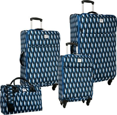 Diane Von Furstenberg Lilah 4 Piece Set Indigo/Black/White - Diane Von Furstenberg Luggage Sets