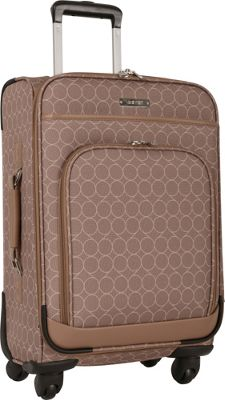 Nine West Luggage Allea 20 inch Expandable Spinner Carry-On Taupe - Nine West Luggage Softside Carry-On