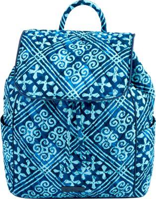 Vera Bradley Drawstring Backpack - Retired Prints Cuban Tiles - Vera Bradley Fabric Handbags
