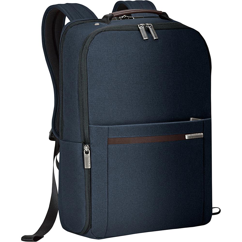 Briggs Riley Kinzie Street Medium Backpack Navy Briggs Riley Business Laptop Backpacks